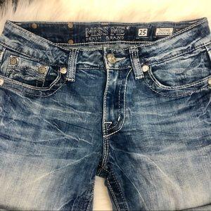 Miss Me Shorts - Miss Me Denim Boyfriend Shorts Sz 25